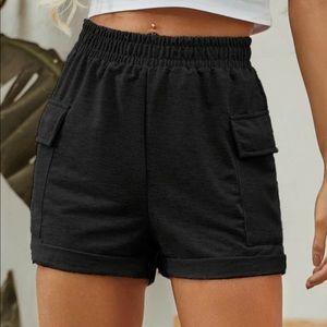 SHEIN High-Waist Double Pocket Track Short